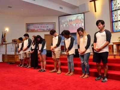 멕시코 단기선교 파송식 / 2017년 6월 25일
